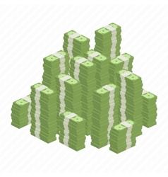 Big heap rolls of money vector image
