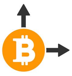 bitcoin fork flat icon vector image