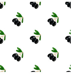 black olives on the branch icon in cartoon style vector image