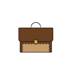 Briefcase and business solid icon finance vector