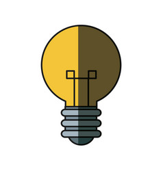 bulb creative idea innovation icon shadow vector image