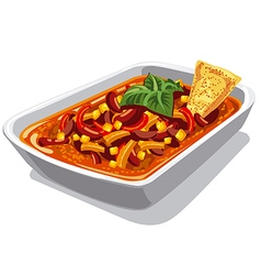 Chilly spicy con carne vector