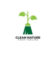 Clean nature logo design template vector