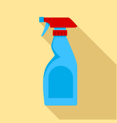 Cleaning bottle spray icon flat style vector