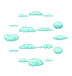 clouds icons set cartoon style vector image