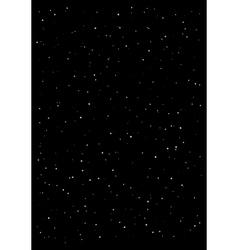Clusters star in dark sky black background vector