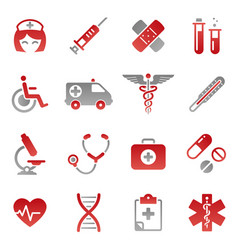 Colored medical icons vector