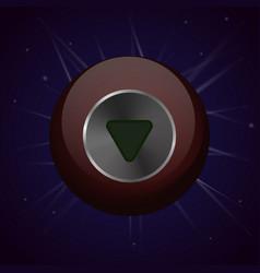 Crystal magic ball vector