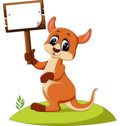 Cute kangaroo cartoon vector