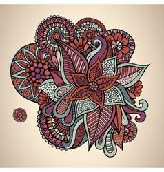 Decorative floral vintage card design vector image