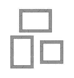 decorative frames set vector image