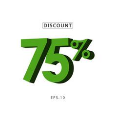 discount 75 template design vector image