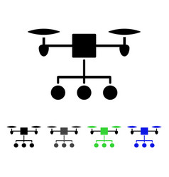 Drone distribution flat icon vector