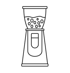 Electric coffee grinder icon outline style vector