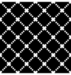 Elegant Black and White Rhombus Seamless Pattern vector image