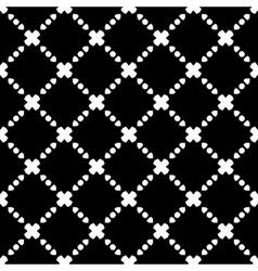 Elegant Black and White Rhombus Seamless Pattern vector