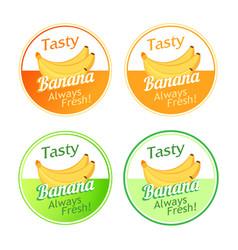 Emblem with bananas vector