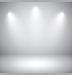 Empty gray studio abstract background vector