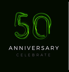 Fifty anniversary poster for party 50th years vector