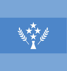 Flag kosrae in federated states micronesia vector