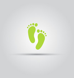 Footprint isolated colored icon vector
