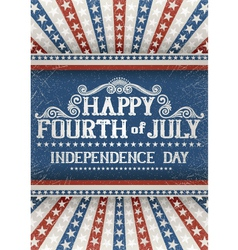 Fourth july greeting card vector