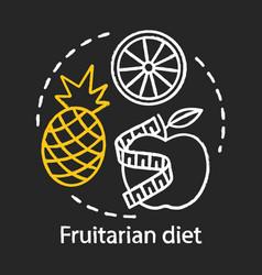 fruitarian diet chalk concept icon vegan vector image