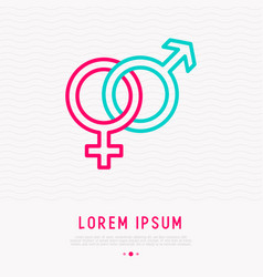 gender symbols male and female crossed vector image