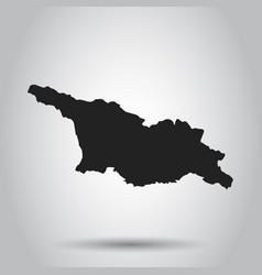 georgia map black icon on white background vector image