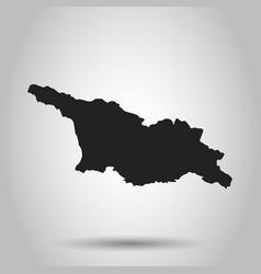 Georgia map black icon on white background vector