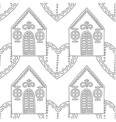 Gingerbread black and white for vector