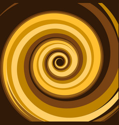 Gold caramel colored twirl spiral abstract vector