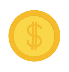 Gold coin money with dollar sign symbol cash vector