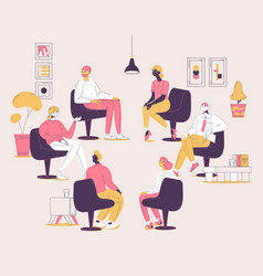 group therapy session concept vector image