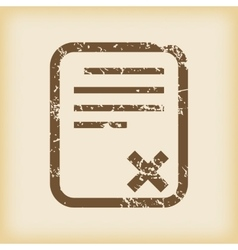 Grungy declined icon vector