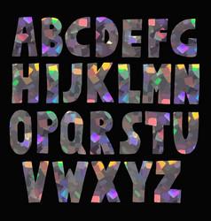 Hand made glitter sparkling font vector