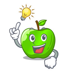 Have an idea green smith apple isolated on cartoon vector