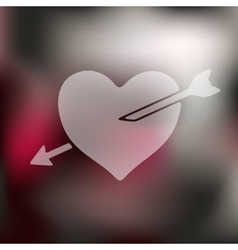 Heart icon on blurred background vector