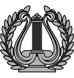 Hellenic lyre vector