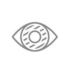 Human eye disease line icon infected organ vector