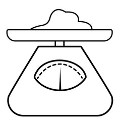 Kitchen scales icon outline style vector