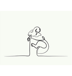 koala bear symbol vector image