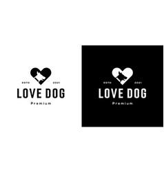 love dog logo design template vector image