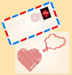 Love letter for valentines day vector image