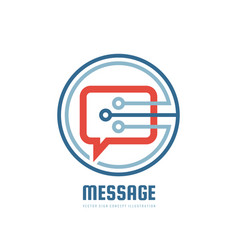 message - logo template concept vector image