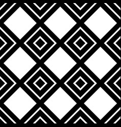 Monochrome pattern with square shapes seamlessly vector
