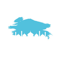 Mosque islamic logo vector