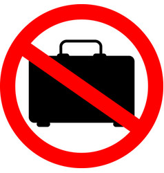 No baggage sign icon simple glyph element of ban vector