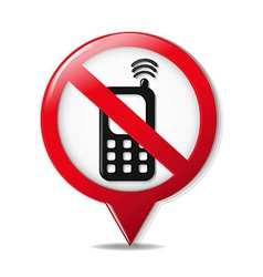 No Cell Phone Sign vector image