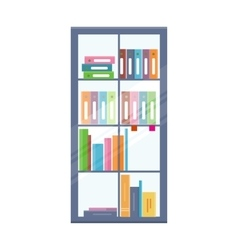 Office Bookcase with Folders vector
